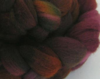 Roving Fiber Top Wool RAPHAEL easy spin 4 oz COLUMBIA Phatfiber Feature November Gorgeous Spin Felt Craft Wine Gold Purple
