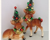 RESERVED for Diane Christmas Decoration Vintage Deer Christmas Ornament Christmas Decor