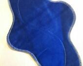 Custom Order - Set of 3 - Blue Organic Bamboo Velour Cloth HEAVY FLOW ... So soft 14 inch .. FREE Shipping