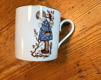 "vintage baby childs mug Schmid Bros 1975 West Germany marked 1976  Sister Berta Hummel 2 1/2"" by 3"""