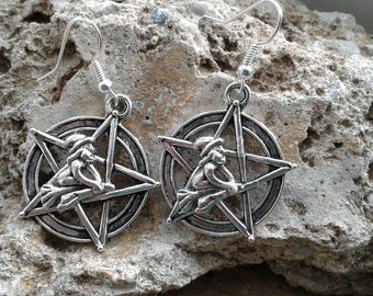 Flying Witches on a Pentacle