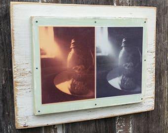 Mason Jar Two Ways Lomography Mounted on Wood