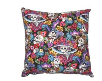Mexican Art Day of the Dead Catrinas Throw Pillow Decorative Pillow Cushion Bedding Home Decor On Sale Clearance