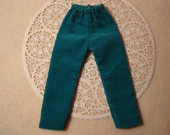 Blythe Teal Corduroy Slacks for Pullip and Vintage Skipper Too!