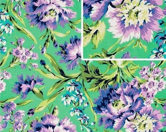 Amy Butler Fabric, LoveCollection, Bliss Bouqet in Emerald, Floral, Cotton - YARD