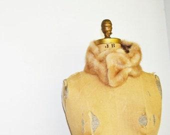 SALE- mink  fur scarf