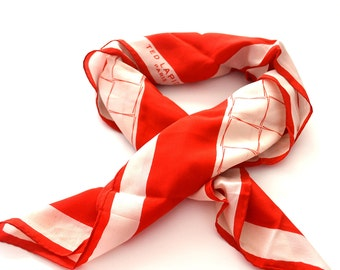 Vintage Ted Lapidus  scarf -semi sheer  silk scarf