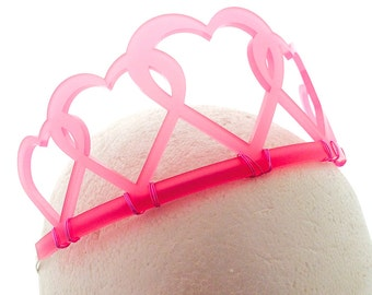 Sweetheart Tiara - Custom Colors, Adult or Child Crown, Free Shipping