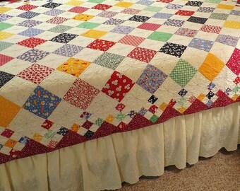 Diamond Patch Quilt Pattern PDF #415e