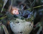 Free shipping, easter egg, Osterei, handmade decoration, sculpture, miniature, figurine art doll decor