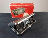 Vintage Japanese Folding Pocket or Travel Binoculars Opera Glasses in Original Box 1970's 2.5 x Magnification Japan