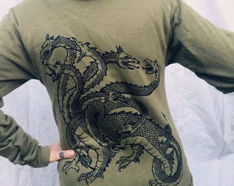 Hydra Griffin Hoodie Green Fantasy Snakes Eagle Lion Hercules Celtic Gift For Him/Her Sm M L XL XXL