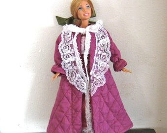ON SALE Barbie Clothes Pink Robe and Gown Set
