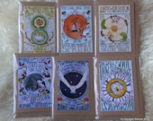 Set of 6 seasonal Wheel of the Year Blessings cards