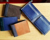 Men's Leather Wallet Personalized, Leather Wallet for Men, Mens Custom Wallet, Men's Gift, Husband Gift - The Frankie Wallet Custom Option