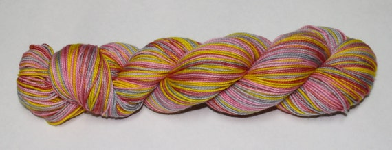 Winter Sunrise Self Striping Hand Dyed Sock Yarn