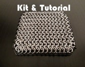 Chainmail and Leather Coaster Kit and Tutorial