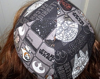 Star Wars Millennium Falcon and Episode VII kippah Chewie (Chewbacca)  Rey droid BB-8 yarmulke The Force awakens---gift for him