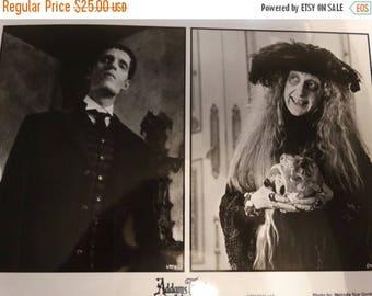 1993 Paramount Picture Adams Family Values Photograph, Production Book Photograph, by Melinda Gordon, Granny, Lurch, Skull, Halloween Decor