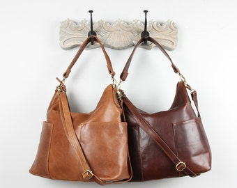 Leather Handbag, Bag, Purse, Brown