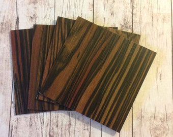 NEW- Rosewood Coaster Tile Blanks- Set of 4- Each tile is 2mm thick- The back is finished to protect against scratches or moisture