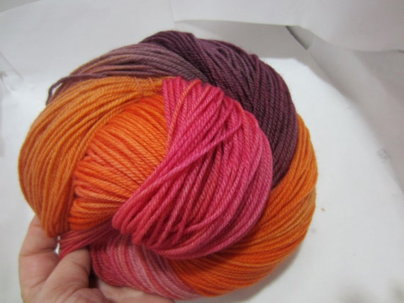 Another Sunset - Dyed to Order - Hand Dyed - Merino Wool Yarn - Fingering Weight