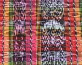 "Guatemalan fabric / woven Ikat fabric / South American textiles / 57"" x 37"""