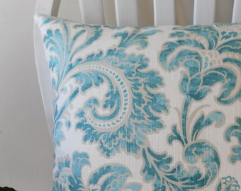 pillow covers cushion cover decorative pillow botanical teal gray zipper 16 18 20 22