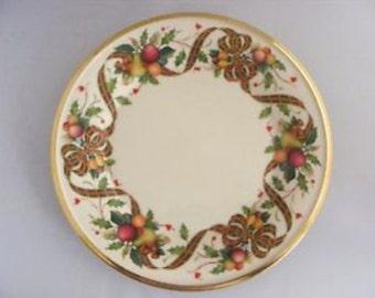"Lenox ""Tartan Pattern"" Holiday Salad or Bread Plates - set of 4"