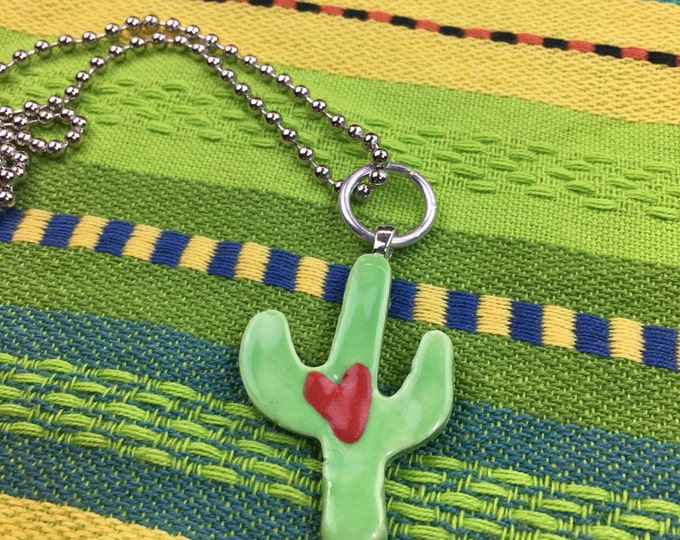 Ceramic Cactus Necklace