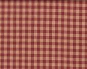 Cotton Homespun Fabric Large Wine Check 31 x 44
