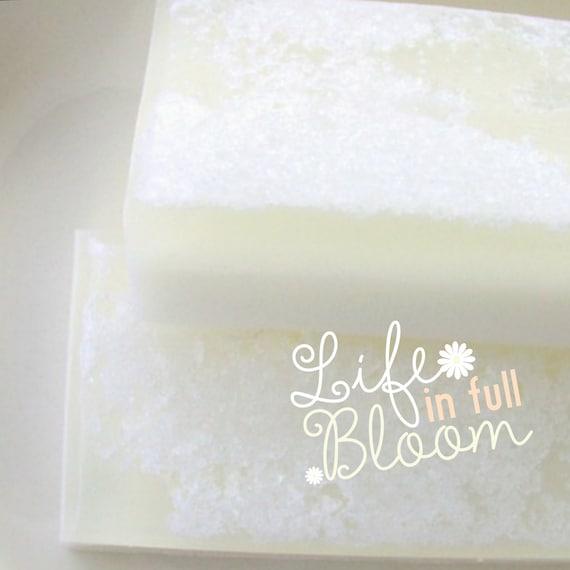 Spring Gift. Easter Gift. Gift for Her. GARDENIA GARDEN Salt Bar Soap. Bold Floral. Natural Glycerin. Easter gift for her