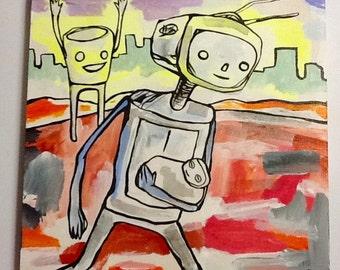 Robot run goals!