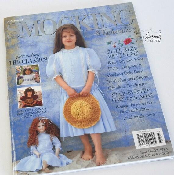 Australian Smocking & Embroidery Magazine - Issue No. 37 - Smocking Needlework Patterns - Needlework Tutorial - Smocking Tutorial