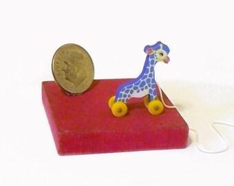 Purple TooTall Giraffe Pull Toy KIT Dollhouse Miniature