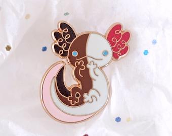 Axolotl Enamel Lapel Pin ~ Fukujin