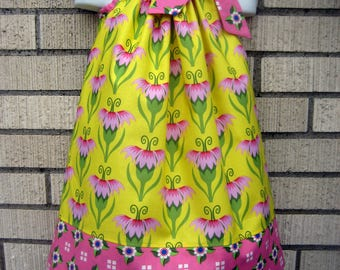 Yellow Floral breeze Pillowcase dress, 3M up to 7 years