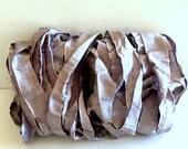 Silk Sari Ribbon, Recycled Silver/Lavender Sari Ribbon, 10 Yards