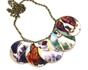 Shrink Plastic Dog Necklace Dog Necklace Terrier Necklace Jack Russell Necklace Boxer Necklace Dog Lover Gift  Dog Lover Necklace