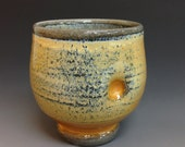 Yunomi, Whiskey Cup, Tea Bowl, Soda Fired Stoneware. Outstanding Color
