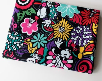 4281 - Mickey & Minnie Floral Cotton Fabric - 59 Inch (Width) x 1/2 Yard (Length)