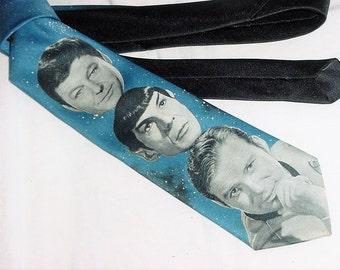 Vintage 90s Star Trek The Original Crew Neck Tie Ralph Marlin Polyester