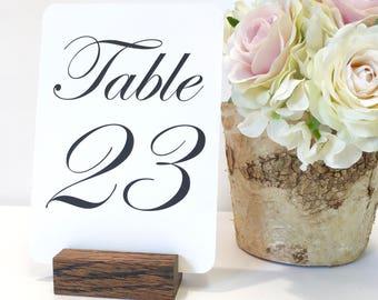 Table Number Holder + Rustic Wedding + Oak Table Number Holder (Set of 10)