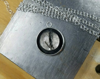 Rutilated Quartz in Sterling Silver pendant