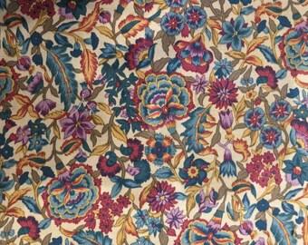 Floral Cotton Fat Quarter - Wood Blocks by Hoffman