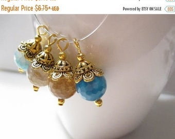 50% Off 4 pcs Earring Drop, Pendant, Asorted Faceted 12mm Fire Agate Charms, Agate Earring Drops Antique Gold Earring Drops, Dangles  DA1003