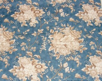 Blue Barn Cotton Fabric by Laundry Basket Quilts for Moda