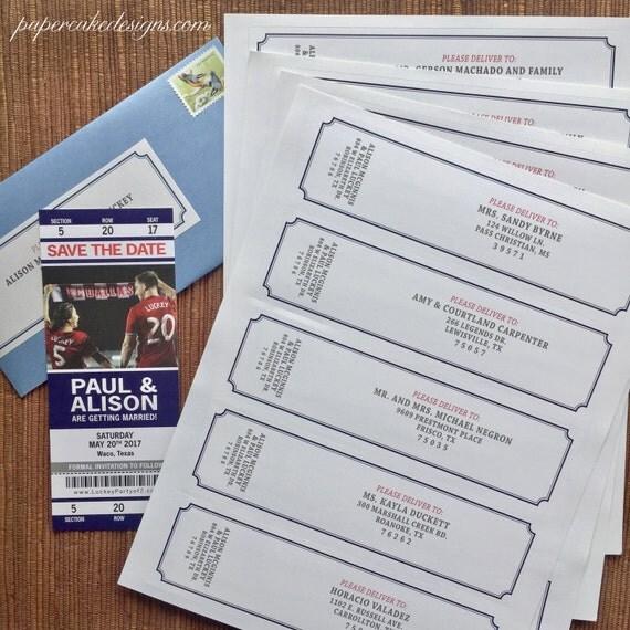 DEPOSIT Guest Address Labels Printing / Return Address / Wedding Party