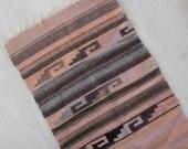 Woven Mexican Wool Rug - 3.5 feet x 2 feet