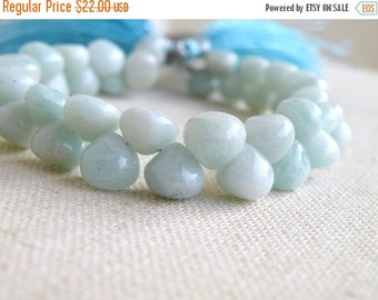 Final 51% off Sale Amazonite Gemstone Smooth Onion Briolette 10.5 to 11.5mm 11 beads